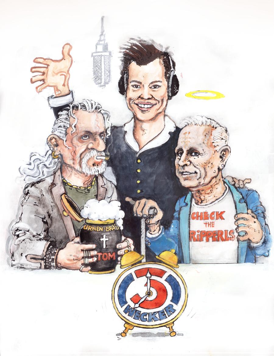 Die letzte Stunde EAV, Karikatur von Thomas Spitzer